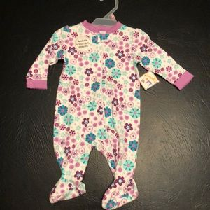 🎀 Violet Bloom infant onesie.